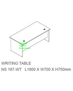 1.8m Writing Table-Grey
