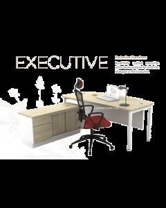 Executive Bow Front Desk