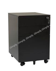 Steel Mobile Pedestal (Black)