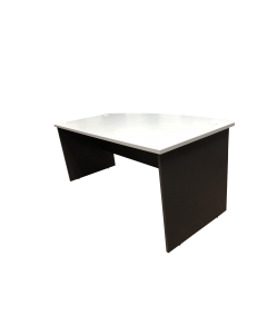1.8m D-Shaped Writing Table-Grey